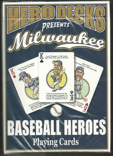 Milwaukee Brewers MLB Baseball Hero Decks Playing Cards Poker Sized 52 Card Deck