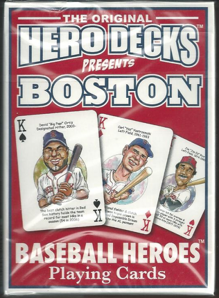 Boston Red Sox MLB Baseball Hero Decks Playing Cards Poker Sized 52 Card Deck