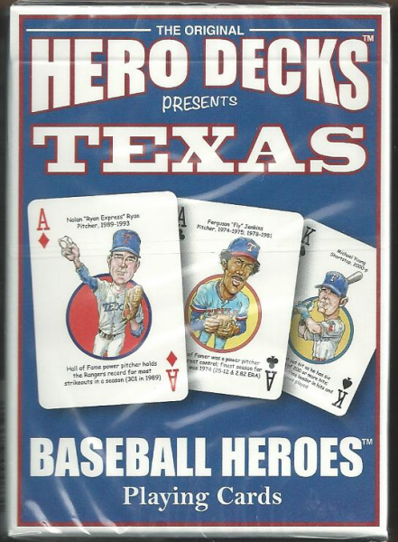 Texas Rangers MLB Baseball Hero Decks Playing Cards Poker Sized 52 Card Deck