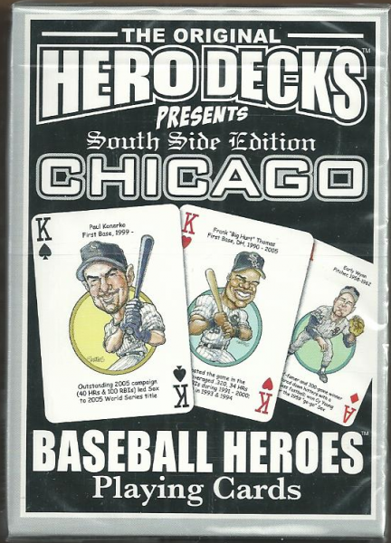 Chicago White Sox MLB Baseball Hero Decks Playing Cards Poker Sized 52 Card Deck