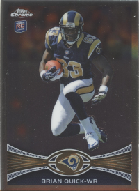 2012 Topps Chrome NFL Rams Team Set (7 Cards)