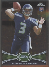 2012 Topps Chrome NFL Seahawks Team Set (6 Cards)