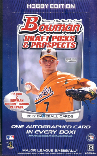 2012 Bowman Draft Picks & Prospects Baseball HOBBY Box front image