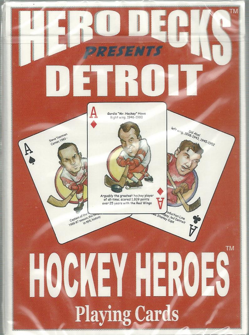 Detroit Red Wings NHL Hockey Hero Decks Playing Cards Poker Sized 52 Card Deck