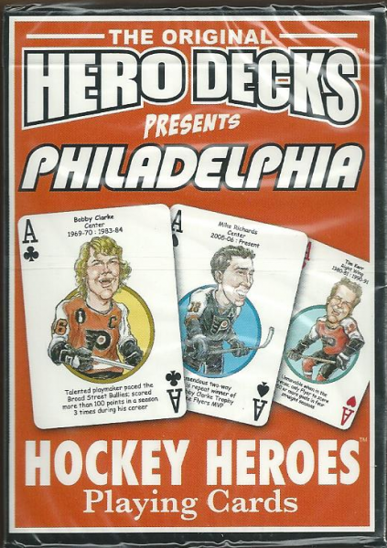 Philadelphia Flyers NHL Hockey Hero Decks Playing Cards Poker Sized 52 Card Deck