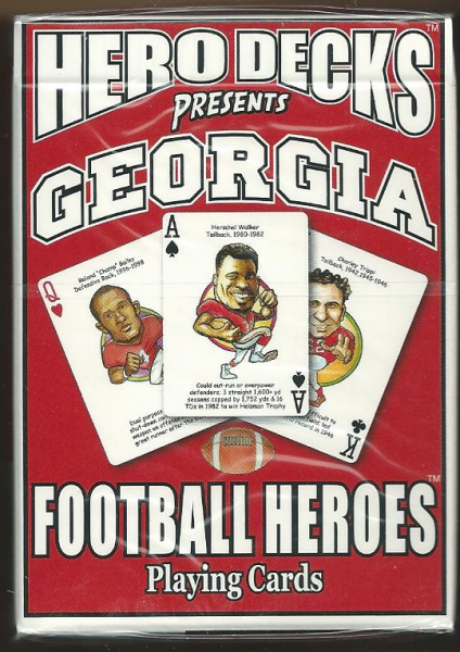 Georgia Bulldogs NCAA Football Hero Decks Playing Cards Poker Sized 52 Card Deck