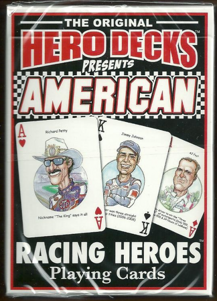 American Racing Hero Decks Playing Cards Poker Sized 52 Card Deck