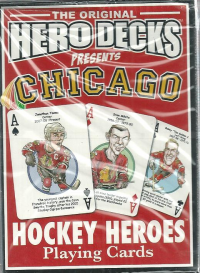 Chicago Blackhawks NHL Hockey Hero Decks Playing Cards Poker Sized 52 Card Deck