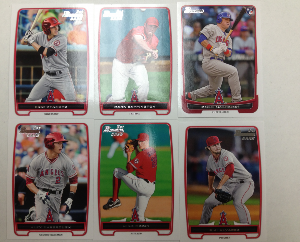 2012 Bowman Draft Los Angeles Angels Team Set 6 Cards