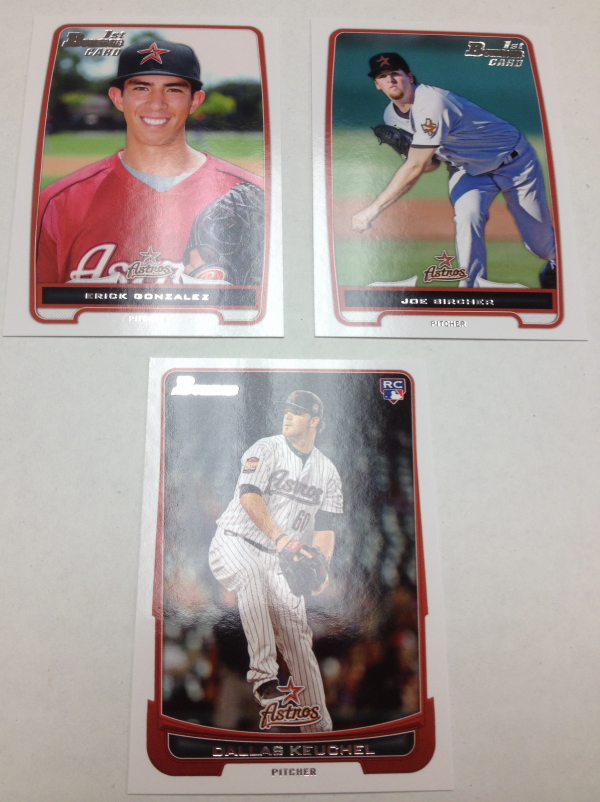 2012 Bowman Draft Houston Astros Team Set 3 Cards