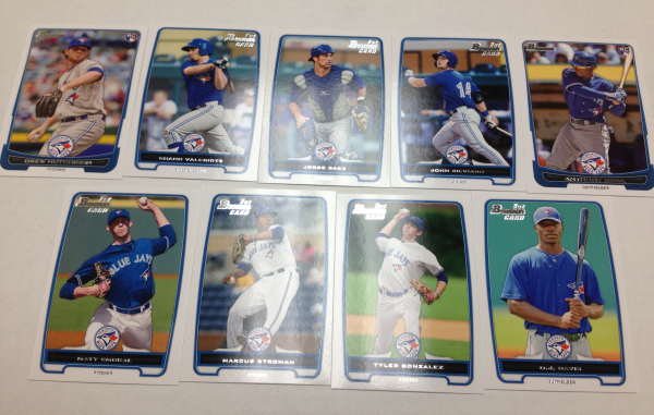 2012 Bowman Draft Toronto Blue Jays Team Set 9 Cards