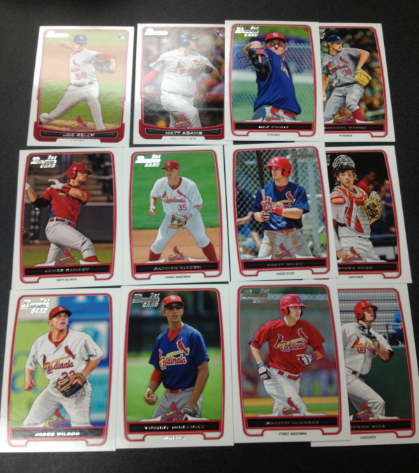 2012 Bowman Draft St. Louis Cardinals Team Set 12 Cards
