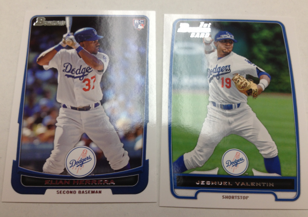 2012 Bowman Draft Los Angeles Dodgers Team Set 2 Cards