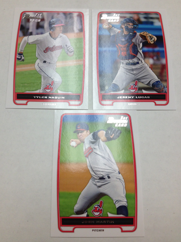 2012 Bowman Draft Cleveland Indians Team Set 3 Cards