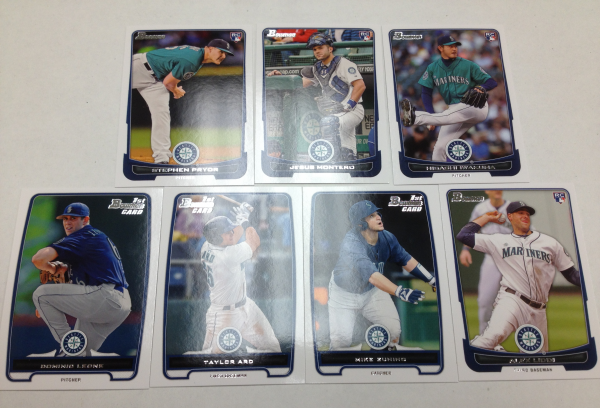 2012 Bowman Draft Seattle Mariners Team Set 7 Cards