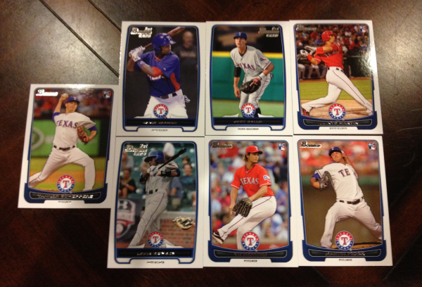 2012 Bowman Draft Texas Rangers Team Set 7 Cards Yu Darvish RC