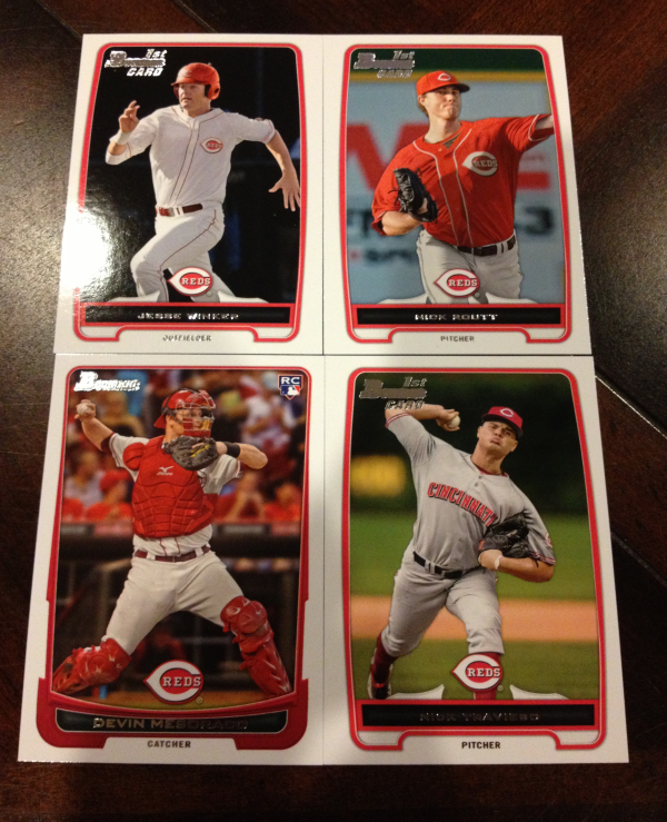 2012 Bowman Draft Cincinnati Reds Team Set 4 Cards