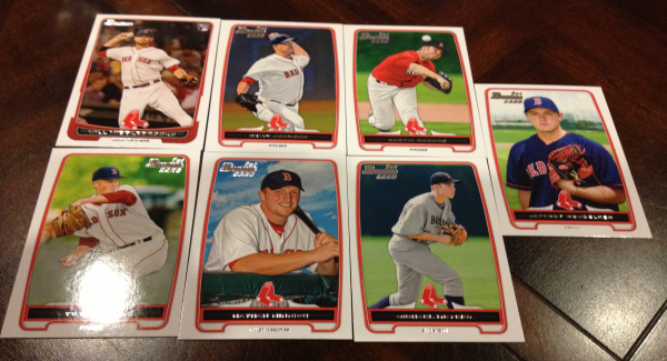 2012 Bowman Draft Boston Red Sox Team Set 7 Cards Will Middlebrooks RC