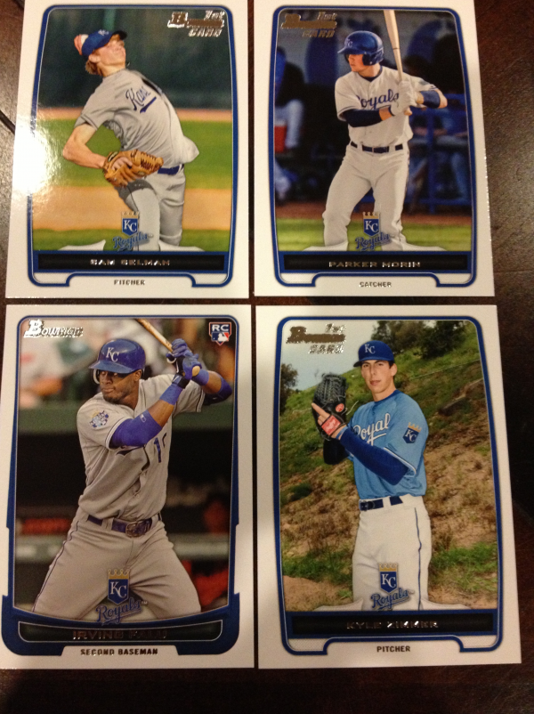 2012 Bowman Draft Kansas City Royals Team Set 4 Cards