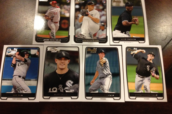 2012 Bowman Draft Chicago White Sox Team Set 7 Cards