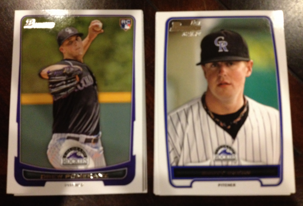 2012 Bowman Draft Colorado Rockies Team Set 16 Cards