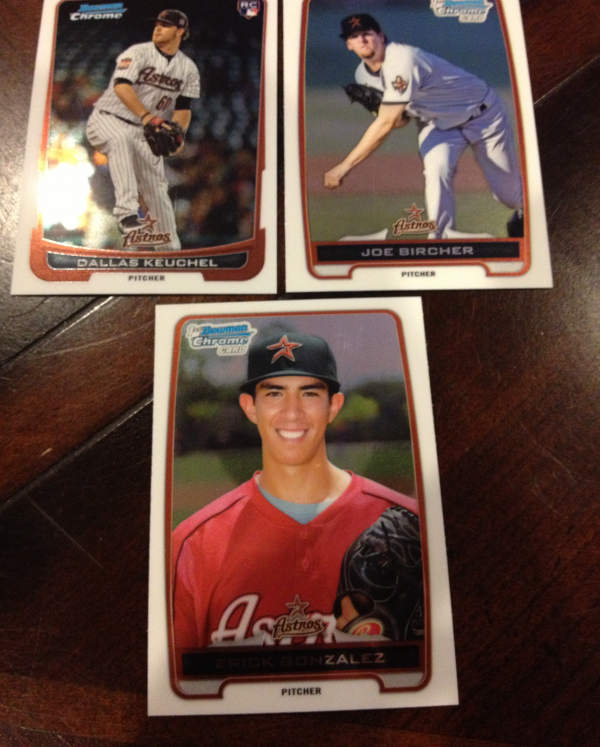 2012 Bowman Chrome Draft Houston Astros Team Set 3 Cards