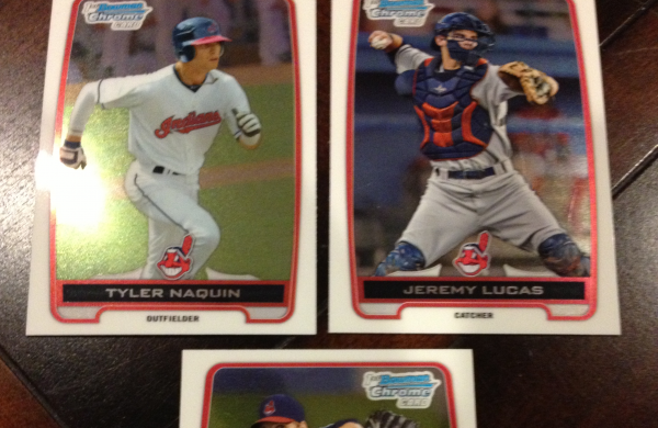 2012 Bowman Chrome Draft Cleveland Indians Team Set 3 Cards