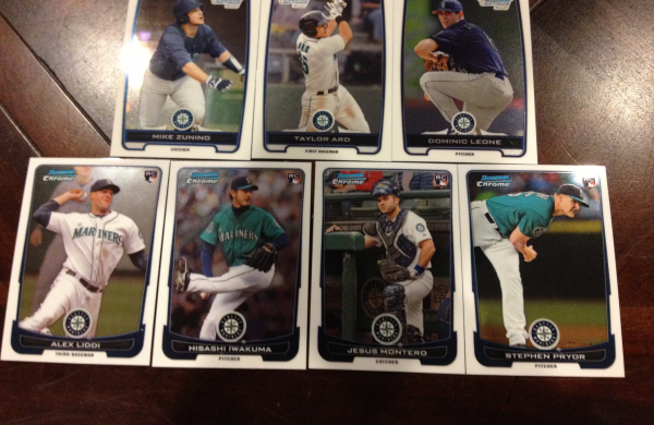 2012 Bowman Chrome Draft Seattle Mariners Team Set 7 Cards