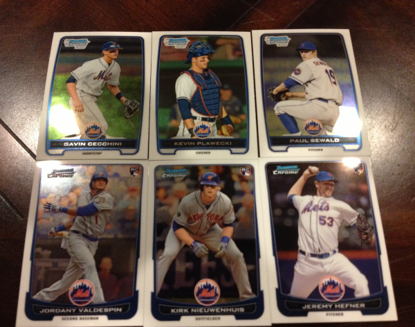 2012 Bowman Chrome Draft New York Mets Team Set 6 Cards