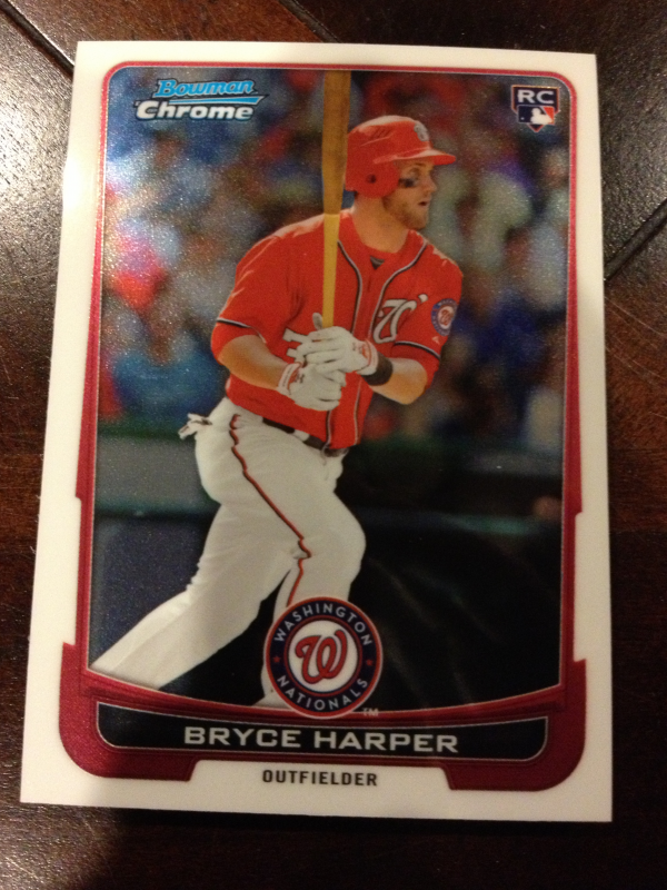 2012 Bowman Chrome Draft Washington Nationals Team Set 9 Cards Bryce Harper RC
