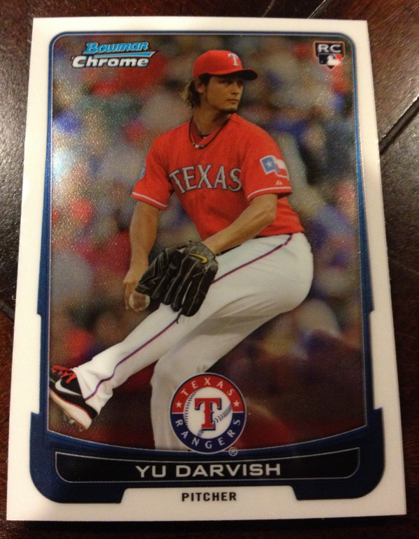 2012 Bowman Chrome Draft Texas Rangers Team Set 7 Cards Yu Darvish RC