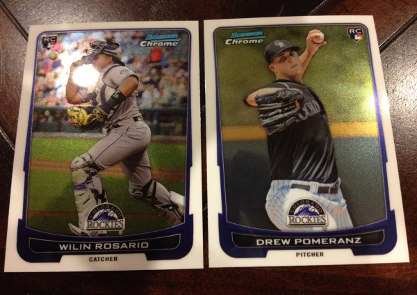 2012 Bowman Chrome Draft Colorado Rockies Team Set 16 Cards