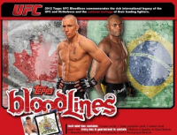 2012 Topps UFC BLOODLINES Factory Sealed HOBBY Box front image