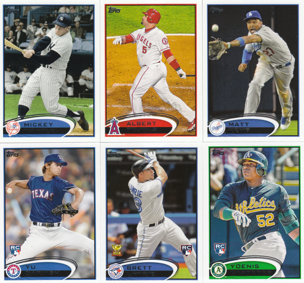 2012 Topps Baseball Base Set-661 Cards