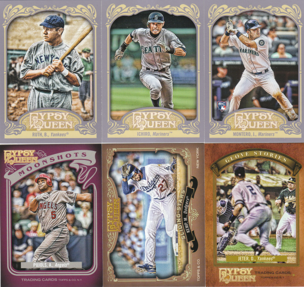 2012 Topps Gypsy Queen Baseball Set-345 Cards