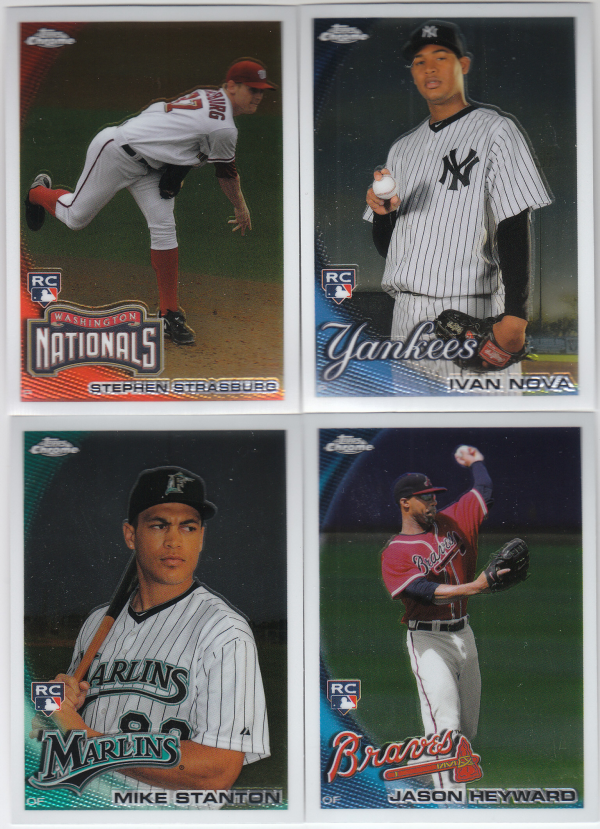 2010 Topps Chrome Baseball Set-220 Cards