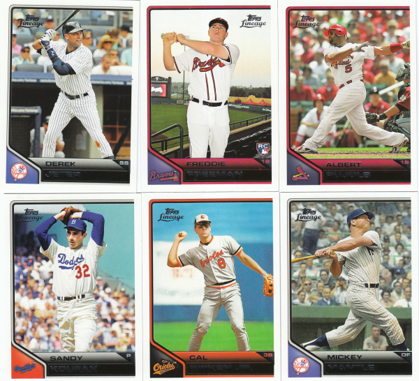 2011 Topps Lineage Baseball Set-200 Cards