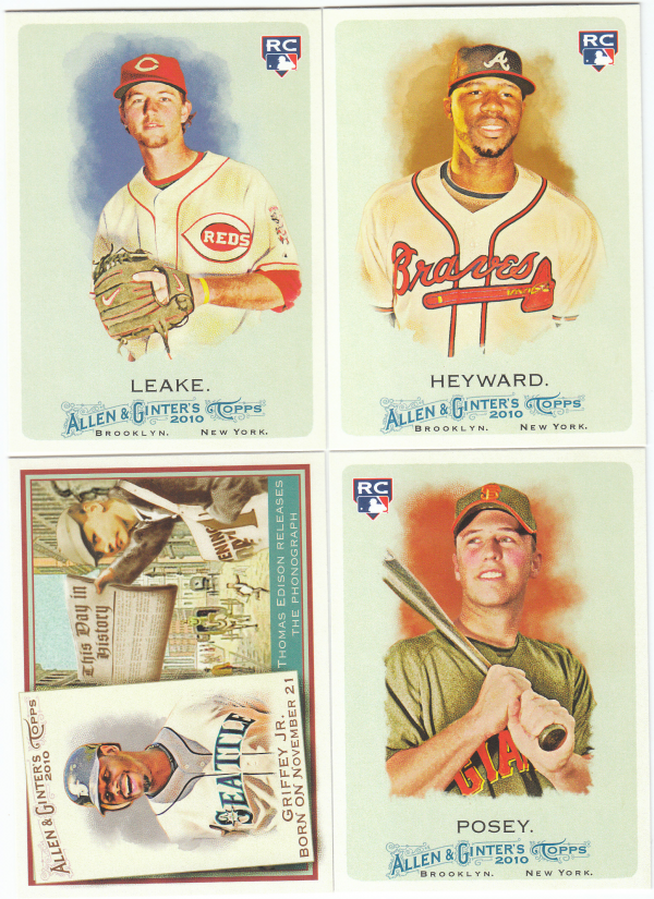 2010 Topps Allen & Ginter Baseball Set-427 Cards