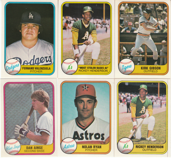 1981 Fleer Baseball Hand Collated Set-660 Cards