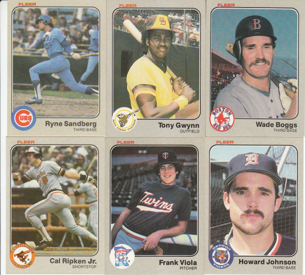 1983 Fleer Baseball Hand Collated Set-660 Cards