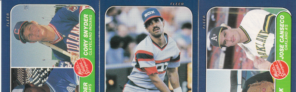 1986 Fleer Baseball Hand Collated Set-660 Cards