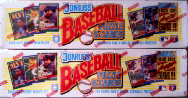 1991 Donruss Baseball Factory Set w/Leaf Preview-784 Cards