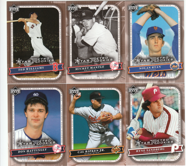 2005 Upper Deck Classics Baseball Set-130 Cards