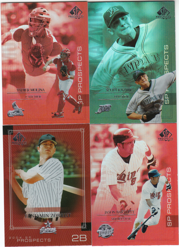 2004 SP Prospects Rookie Baseball Set - 198 Cards