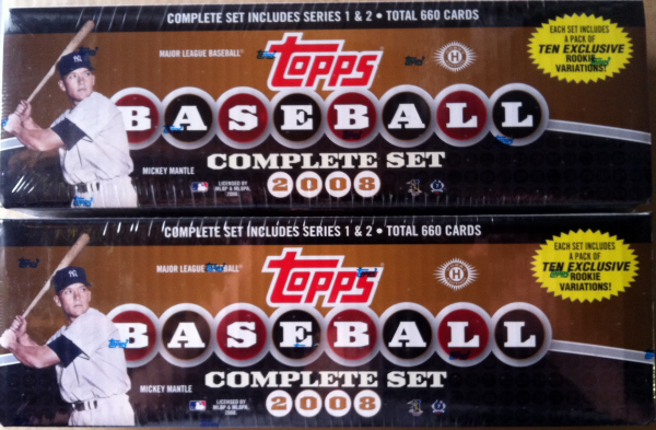 2008 Topps Baseball Factory Set-660 Cards
