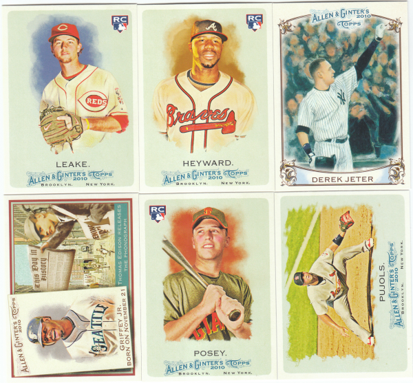 2010 Topps Allen & Ginter Baseball Set-442 Cards
