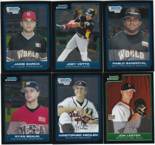 2006 Bowman Chrome Draft Picks & Prospects Baseball Set-165 Cards