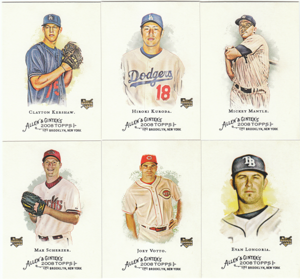 2008 Topps Allen & Ginter Baseball Set - 400 Cards