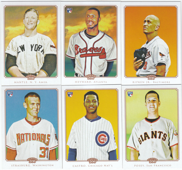 2010 Topps 206 Baseball Set - 300 Cards