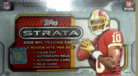 2012 Topps STRATA Football HOBBY Box front image